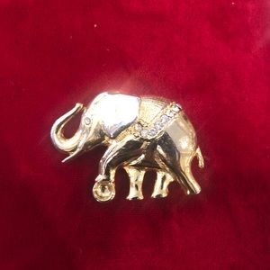 Gold plated elephant pin